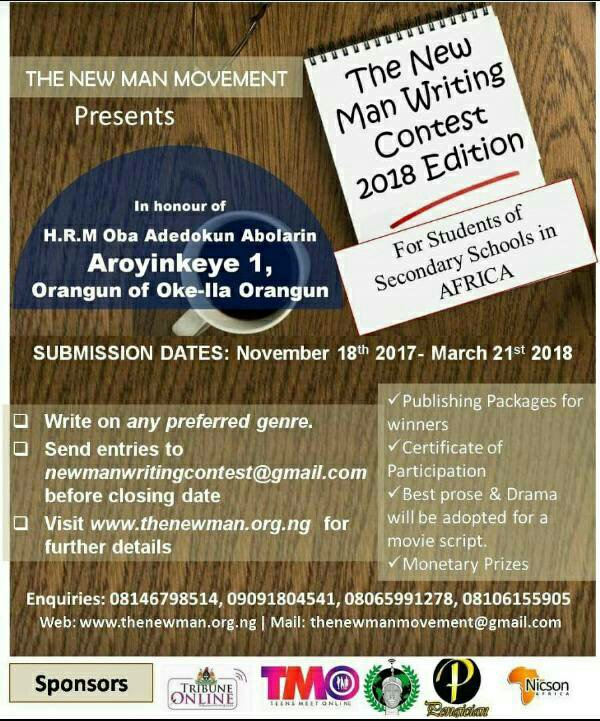 The NewMan Writing Contest for African Secondary School Students
